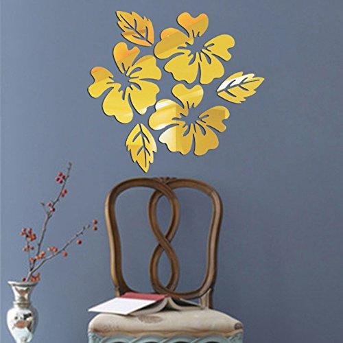 Zegeey Moderne Spiegel Stil Abnehmbare Aufkleber Kunstwand Aufkleber Home Room DIY Dekor