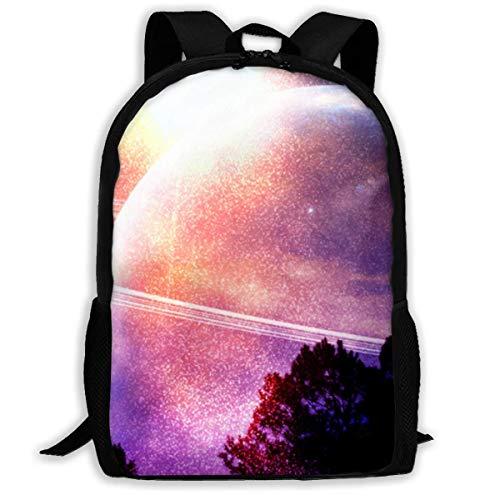 Zaino da viaggio per adulti Planet Sky Space JNMJK per zaini per laptop da 15,6 pollici Zaino per scuola Zaino casual per uomo e donna