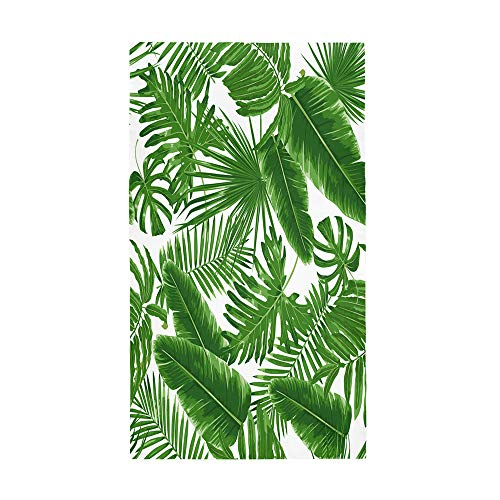 Fansu Toalla de Playa Microfibra Gigante Impresión Planta 3D Rectangular Surf Toalla de Piscina Grande,Toalla Playera para Tomar el Sol de Verano Paño para Playa Unisex (80 * 180cm,Plantas Verdes)
