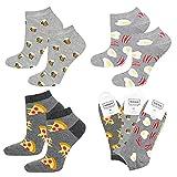 soxo Calcetines de Color para Hombre | Talla 40-45 | Paquete de 3 | Calcetines Algodón Cortos con Dibujos Graciosos | Perfectos para Zapatos y Botas