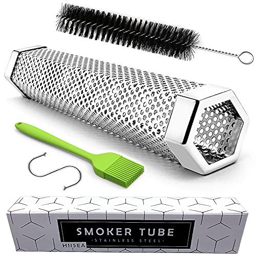 Smoke Tube - 12'' Smoke Tube for Pellet Grill 5 Hours of Billowing Smoke, Stainless Steel Pellet...