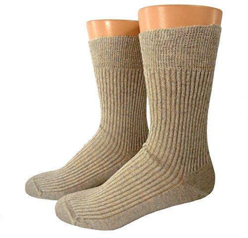 Shimasocks Herren Bio Socken Leinen, Größe:45/46, Farben alle:beigemeliert