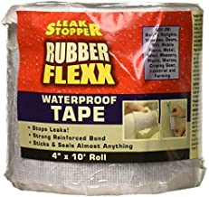 Leak Stopper Rubber Flexx Leak Repair & Sealant Waterproof Tape 4 X 10 Roll | Easy to Use Peal & Stick with Incredible Adhesion Waterproofing & Seam Tape | Sticks & Seals almost anything | White |