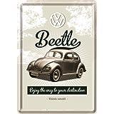 Nostalgic-Art 10224 Volkswagen VW Retro Beetle, Blechpostkarte, 10 x 14 cm