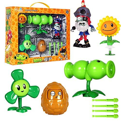 Giocattoli originali Plants vs. Zombies Giant Pirate Captain Zombie Pea Pod Shooter Plants vs Zombies Action Figures Toys Zombie Skittles