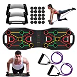 Fostoy Push Up Rack Board, 9 en 1 Push Up Tablero Plegable y Multifuncional Equipo de...