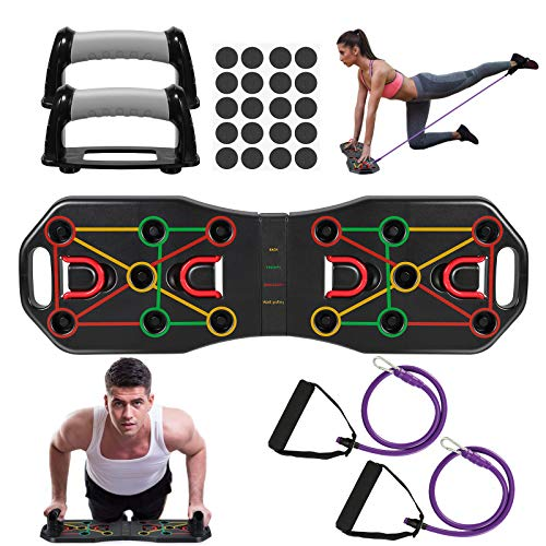 Fostoy Push Up Rack Board, 9 en 1 Push Up Tablero Plegable...