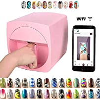 Portable 3D Digital Nail Art Printer Smart Nail Painting Machine Fast Nail Art Pattern Printer, DIY Multifunction Wifi...