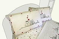 100% cotone Design italiano lenzuolo sopra cm 240x290 - lenzuolo sotto con ancgoli cm 180x200+25 - 2 federe piazzate con bottoni cm 52x82