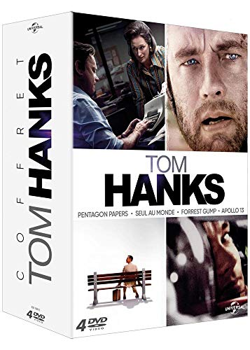 Tom Hanks - Coffret : Pentagon Papers + Seul au monde + Forrest Gump + Apollo 13 [Francia] [DVD]