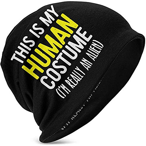 Mamihong Este es mi Disfraz Humano Skull Cap Sombreros de Punto