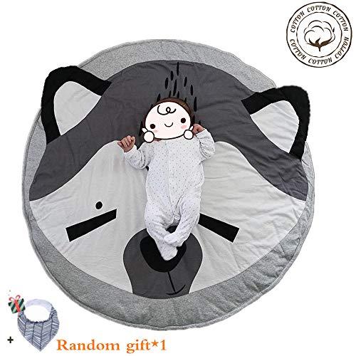 Krabbeldecke für Baby, Morbuy Kinder Schlafbereich Teppich Kuschelige Cartoon Spielmatte Runde Teppich Dekoration für Kinderzimmer Crawl Spielmatte Spiel Gym Aktivität