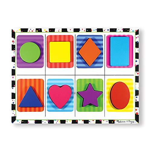 Melissa & Doug- Shapes Chunky Juego Puzzle con 8 Piezas,