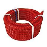 SOMATHERM FOR YOU - Couronne de 15m de Tube PER Ø16 gainé rouge