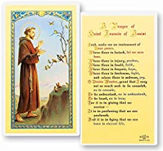 Saint Francis of Assisi Prayer for Peace Laminated Holy Cards (Set of 5)
