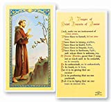 "Saint Francis of Assisi Prayer for Peace Laminated Holy Cards Features the world famous Fratelli-Bonella artwork on front Back of card features Saint Francis' Prayer for Peace Each card is laminated and measures approximately 2.5"" x 4.5"" Made in Ital..."