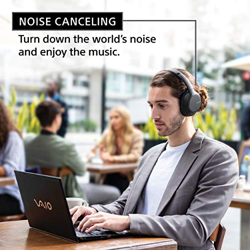 Sony Noise Cancelling Headphones WHCH710N: Wireless Bluetooth Over The Ear Headset with Mic for Phone-Call, Black (WHCH710N/B)