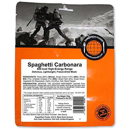 Expedition Foods Spaghetti Carbonara (800kcal) - Freeze Dried Meal