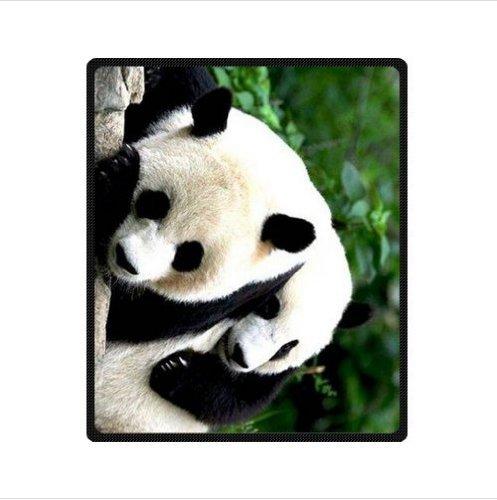YISUMEI - 150 x 200 cm Decke - Personalisierter Großer Panda Fleecedecke,Kaschmir-Gefühl Kuscheldecke Geeignet für Bett oder Sofa