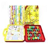 Pkjskh 72Pcs Kinder Arithmetik Lernspielzeug 3-6 Jahre alte Jungen und Mädchen Lernen Lernspielzeug Koffer Design Tragbare Komfortable Smart Passwort Identifikation Antwort Mehrzweck Lernspielzeug