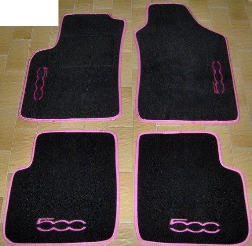 Auto-Fußmatten, komplettes Set Fußmatten, passgenau, mit Stickerei Rosa