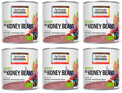 6 x Bio Kidney Bohnen von Fairtrade Original | 250 g Kidneybohnen Bio | Kidney Beans Can | Kidneybohnen Dose | Kidney Beans | Kidney Bohnen Konserve (6 Dosen (je 250g))
