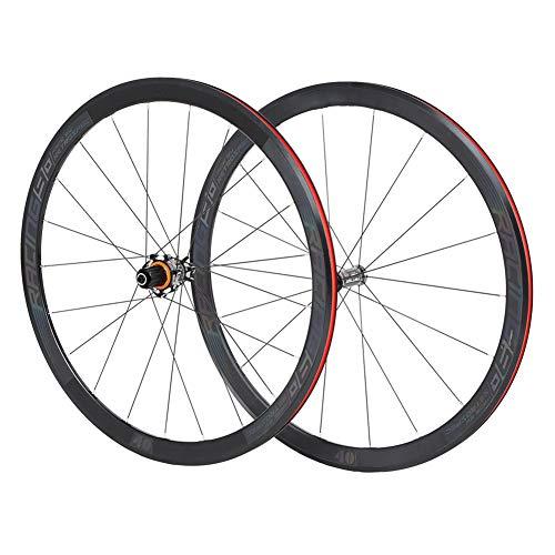 TBAN Ultraleichte Aluminiumlegierung 40 Messer Autobahn 700C Radsatz Vier-Achsen-Paket Carbon Nabe Bunte Standard-Fahrradfelge