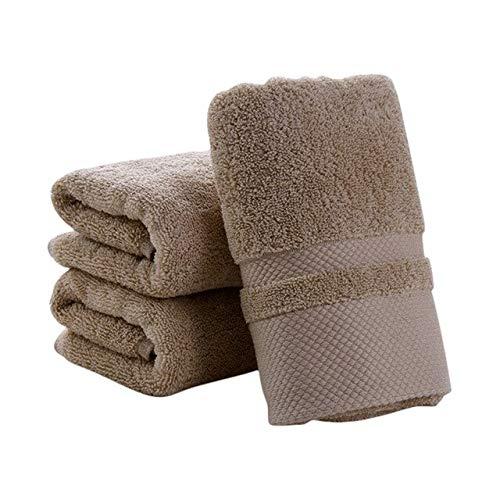 Xiaobing Toalla de Cara de Color Puro de algodón Puro, pañuelo Suave, Toalla Gruesa, Toalla de baño, baño -K-C30