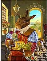 クロスステッチキットMr.Bunny11CT刻印針先プリントパターンキット家の装飾用のクロスステッチ縫製刺繍