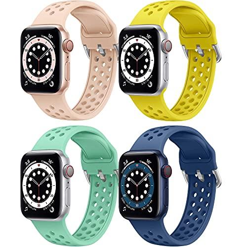Supore Apple Watch Correas de Repuesto Compatible con Apple Watch Correa 45mm 44mm 42mm 41mm 40mm 38mm, Correa de Silicona Suave Deportiva Compatible con Apple Watch SE / iWatch Series 7 6 5 4 3 2 1