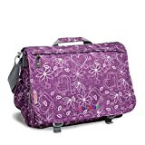J World New York Thomas Laptop Messenger Bag, Love Purple, One Size