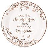 Crisky Bridal Shower Disposable Plates Rose...