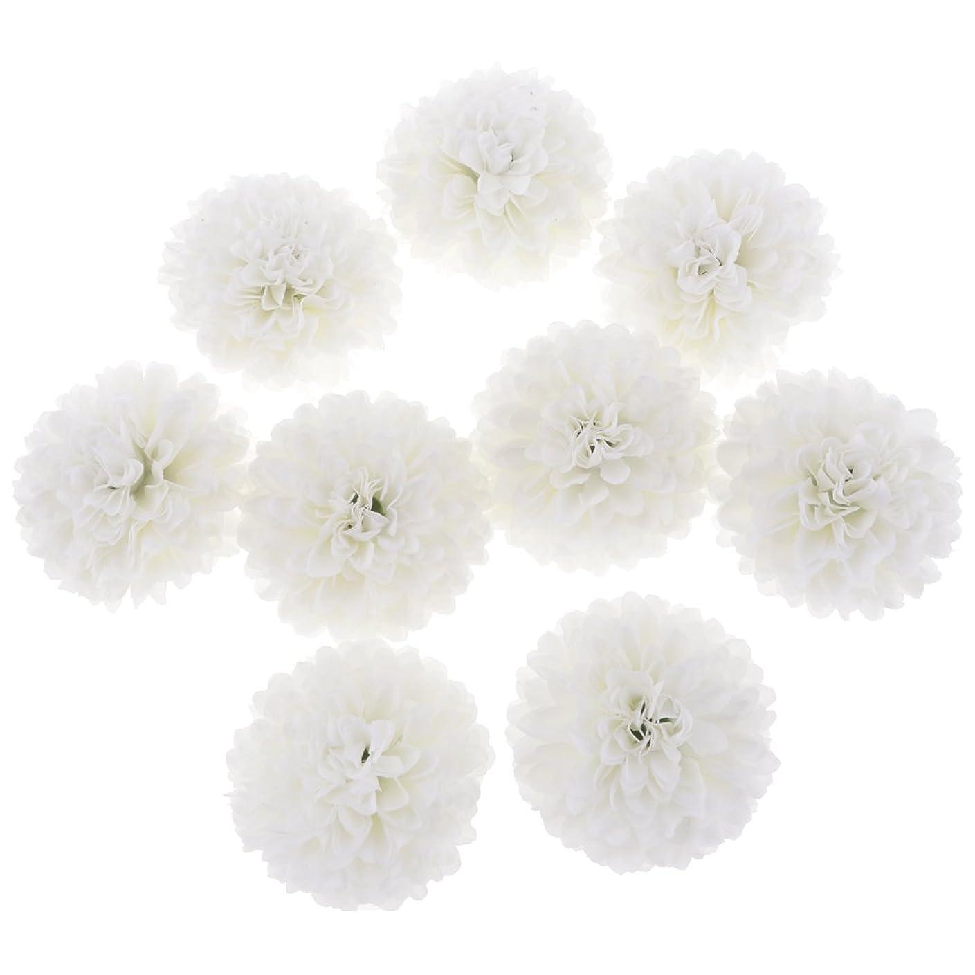 人口マングル有名人10個 人工シルク 造花 フラワーヘッド 菊の頭