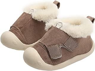 YFCH Chaussures B/éb/é Cuir Souple Chaussons Premiers Pas Respirant pour Gar/çon Fille Nourrisson