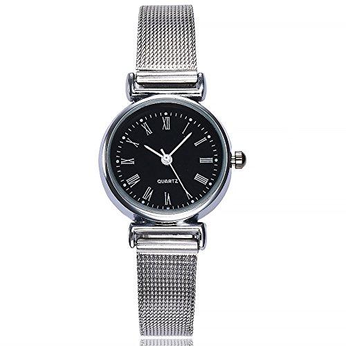 New Trend! Armbanduhr Damen, 2019 Frauen Fashion Casual Analog Quarz Uhr mit Edelstahl Armband Damenuhr LEEDY