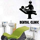 mlpnko Creativo Dental Etiqueta de la Pared Decoración Dental Calcomanías móviles30X40cm