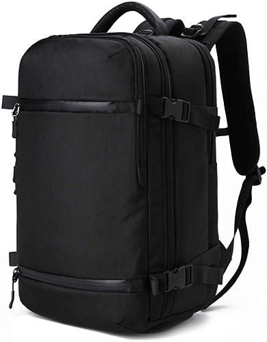 ZXPzZ Sac à Dos en Plein Air MultifunctionTravel Daypack Grande Capacité Sac à Dos De Voyage Imperméable à Dos pour Hommes Un Camping Escalade (Couleur   noir)