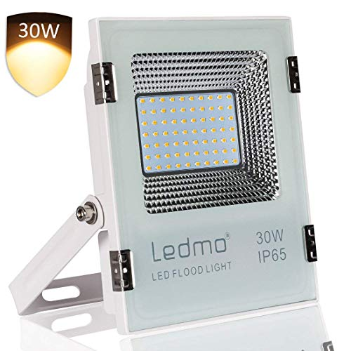 LEDMO 20W faretto led esterno bianco caldo 2700k impermeabile IP65 faro led 1800lm faretti led esterno SMD2835 AC200-240V per giardino