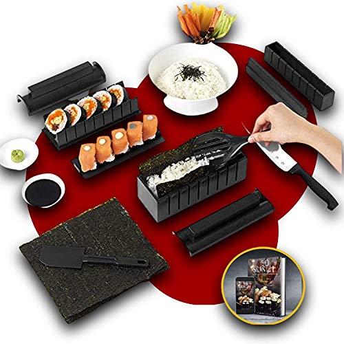Sushi Tool Set Sushi Maker Kit, 11-teiliges DIY Sushi Set Premium Praktischer Sushi Maker für die Küche - Einfach und unterhaltsam - Das perfekte Geschenkset für Sushi-Liebhaber.