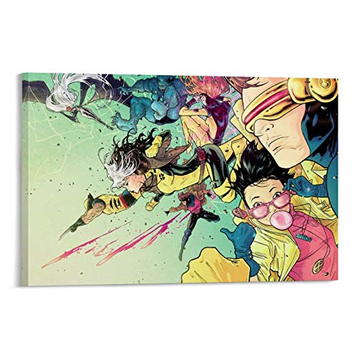 IFUNEW X-Jubilee, Cyclops, Ororo Monroe, Cartoon, Gambit, Wolverine, Jean Grey, Rouge Canvas Art Poster and Wall Art Picture Print Modern Family Bedroom Decor Posters 12x18inch(30x45cm)