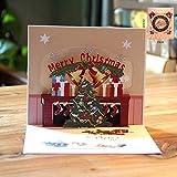 3D Hacen estallar la Feliz Navidad Origami Papel Cortado Las Postales de felicitación Tarjetas de felicitación Hechas a Mano en Blanco árbol de Navidad Tarjeta Regalo