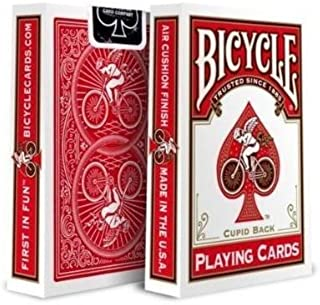 Bicycle Cupid Back Playing Cards in Red by USPCC