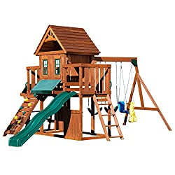 Wood Complete Play Set with Two Swings Winchester