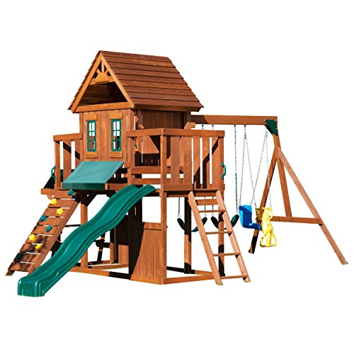 Winchester Wood Complete Play Set with Two Swings,...