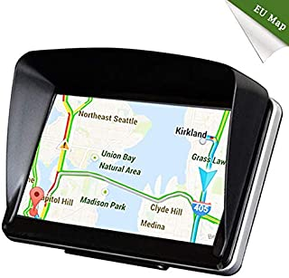 Car GPS Navigation with 24GB Capacity, NOVPEAK 7 Inch Capacitive Touch Screen Voice Prompt Capacitive Car Truck Navigator with Free Lifetime Updates, FM, Driver Alerts, Sun Shade for US & Europe