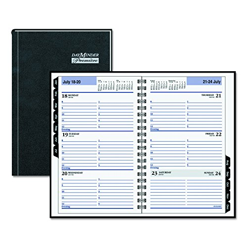 DayMinder G210H00 Hardcover Weekly Appointment Book, 4 7/8 x 8, Black, 2016 Photo #6