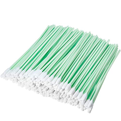 200 Pieces Foam Swab Cleaning Swab Foam Tips Sponge Stick for Inkjet Printer Print Head Camera Optical Lens Optical Equipment (Green, 16 cm)