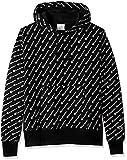 Champion Men's Reverse Weave Pullover Hood-Print, Diagonal Script Black, XX-Large