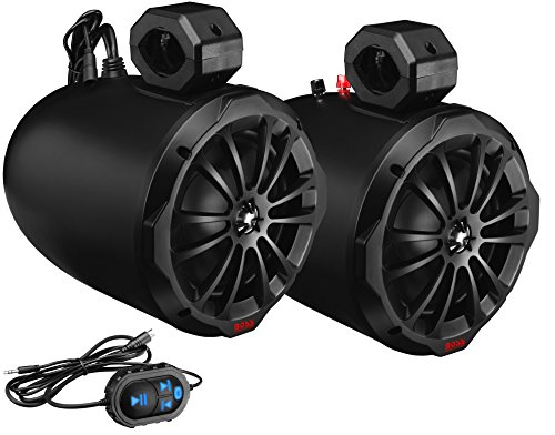 BOSS Audio Systems B82ABT ATV Waketower Speaker System - Amplified, 800 Watts Per Pair, 200 Watts Each, 8 Inch, Full Range, 2 Way, Bluetooth, Weatherproof, Sold in Pairs