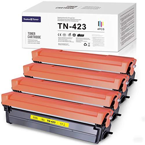 SWISS TONER 1 juego de cartuchos de tóner TN-423 TN-421 compatibles con impresoras Brother HL-L8260CDW HL-L8360CDW DCP-L8410CDW MFC-L8690CDW MFC-L8900CDW